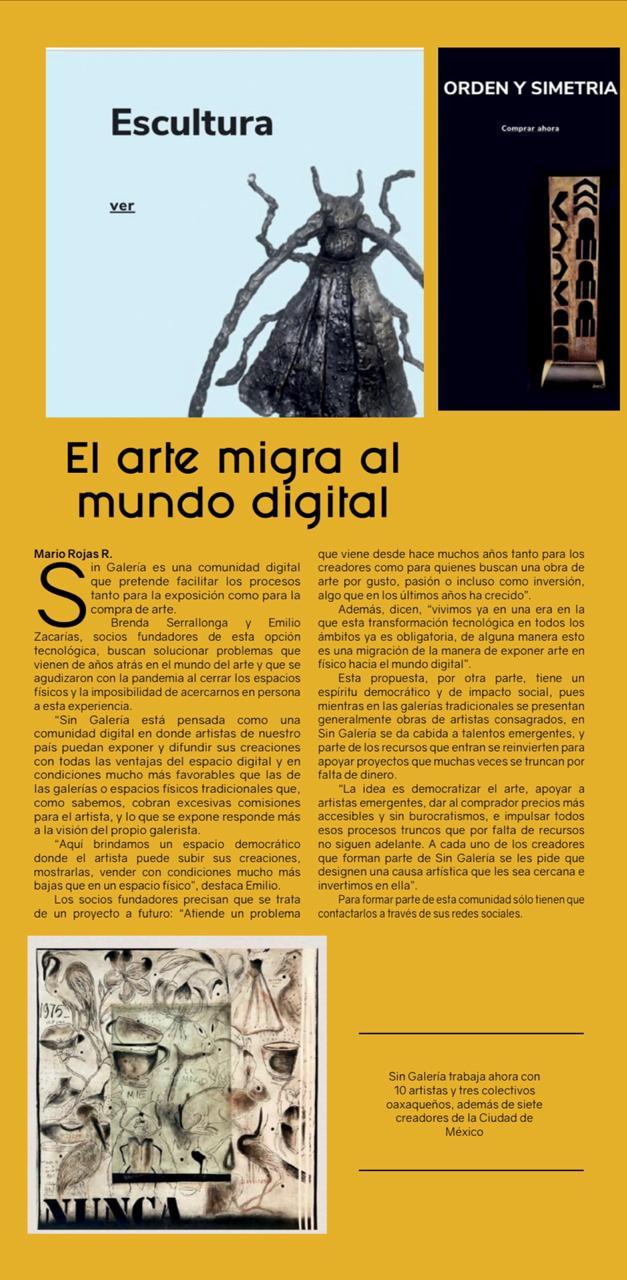 Sin Galeria, El arte migra al mundo digital
